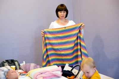 Беременные мамочки Клуба НН Мама узнали, как завязывать слинг