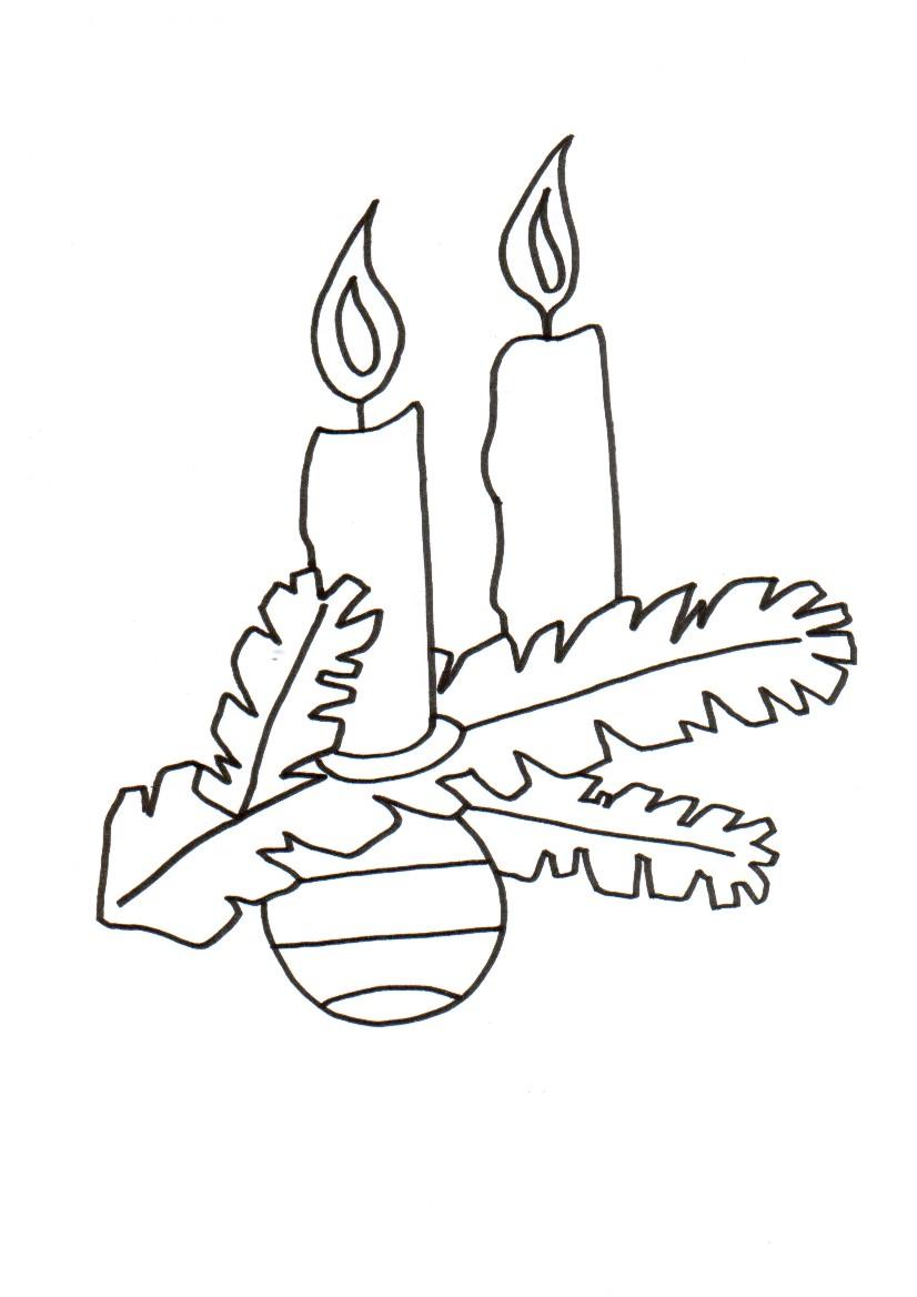 Поделки к Новому Году.  Две свечи.