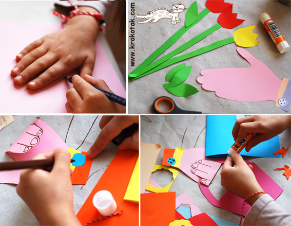 Начало. как сделать своими руками объемную открытку маме Окончание