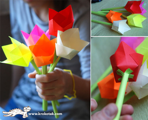 Как сделать подарок маме своими руками на 8 марта из бумаги видео