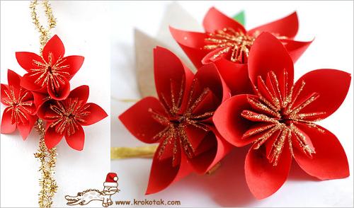 Как из бумаги сделать цветы