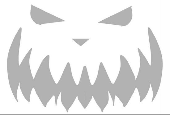 Трафарет на хеллоуин