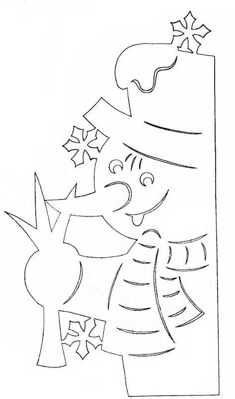 Трафареты для окна из бумаги новый год