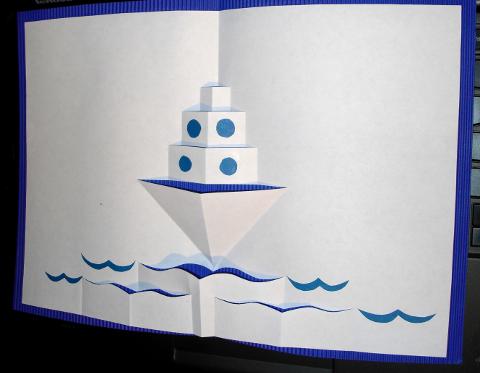Картинки, открытка с 23 февраля кораблик объемный