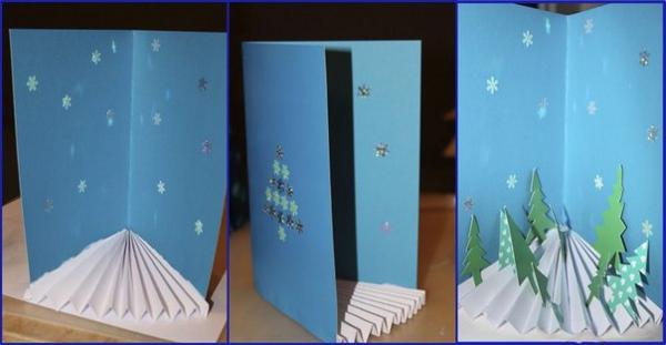 Объемные открытка на новый год своими руками