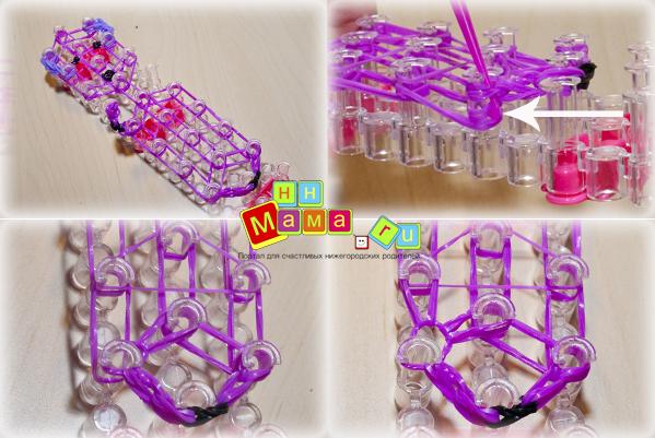 Плетение игрушек резиночками на станке