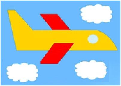 Аппликация самолет летит