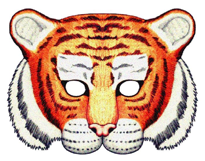 Как сделать маску тигра из бумаги своими