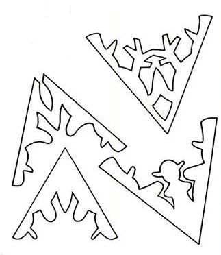 Снежинки из бумаги схемы для вырезания своими