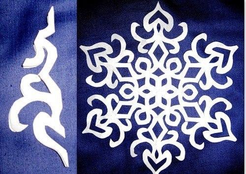 Схема снежинки 15