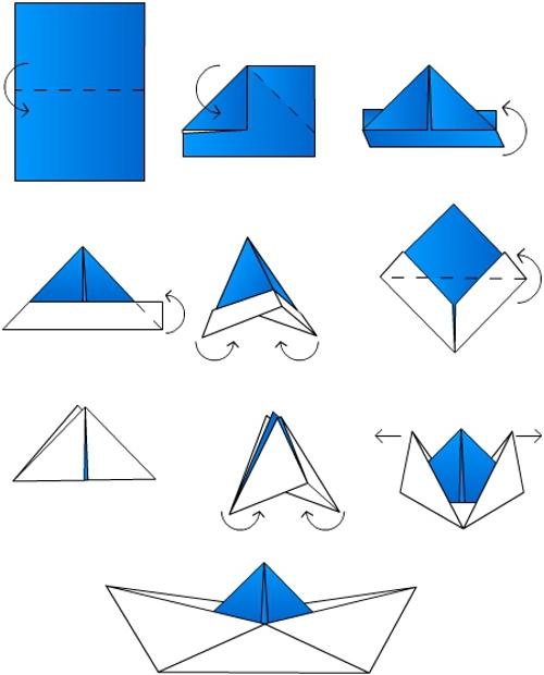 Оригами схемы корабликов - ищем файлы вместе